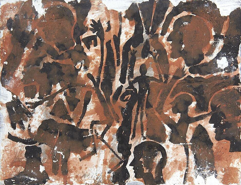 Díptico con pies II (1999)
