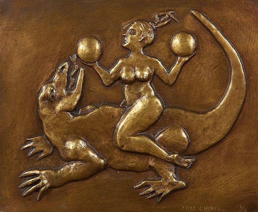 Mujer con esferas (2012)