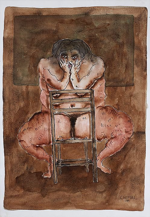 Mujer picandose la nariz (1984)