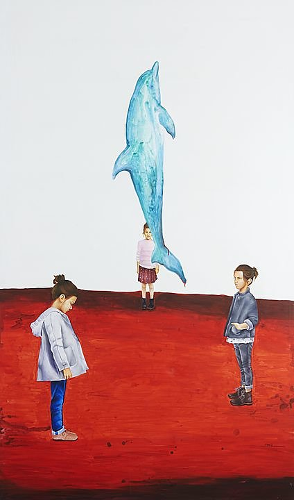 Abulia (2016) Marisela Peguero, Acrílico sobre tela, 200 x 120 cm