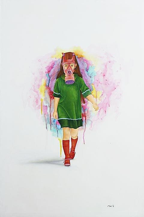 De paseo (2016) Marisela Peguero, Acrílico sobre tela, 120 x 80 cm