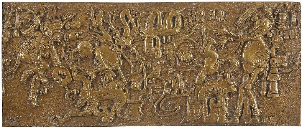 Chaack, El dios árbol Paaxil y Unen B'ahlam (K4013) (2016)