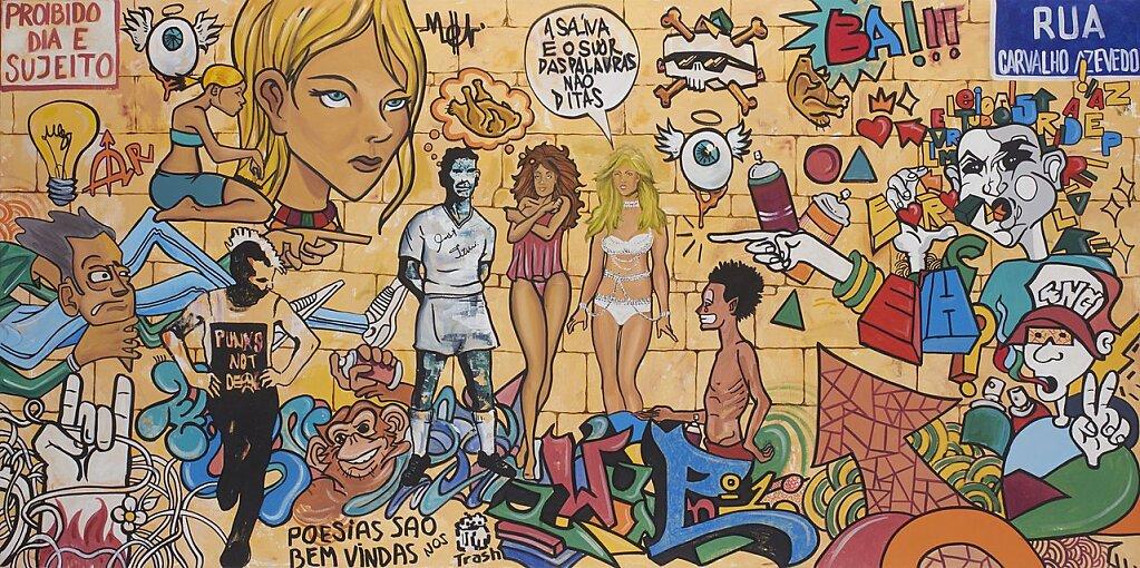 La saliva y el sudor son palabras no dichas. Graffiti Brasil (2015)