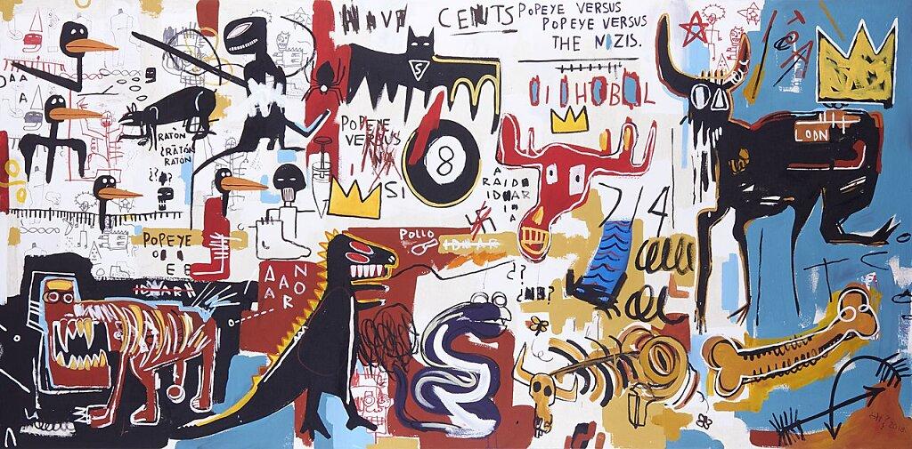 88, Ratón, ratón, Lion, lion, Popeye, versus nazis. Juegos de Basquiat (2018)
