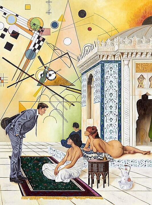 El ejecutivo inocente, notas de un harem (Jean Leon Gerome, Kandinsky) (2017)